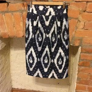 J. Crew Collection Ikat Silk Skirt